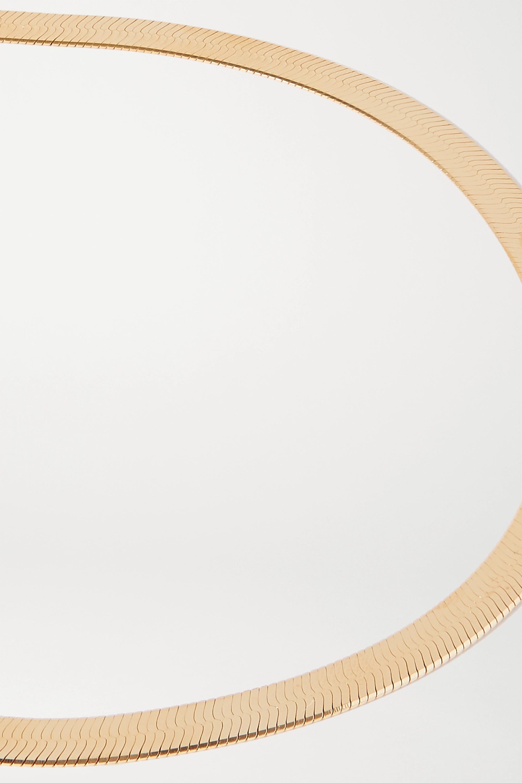 Loren Stewart Herringbone XL gold vermeil necklace