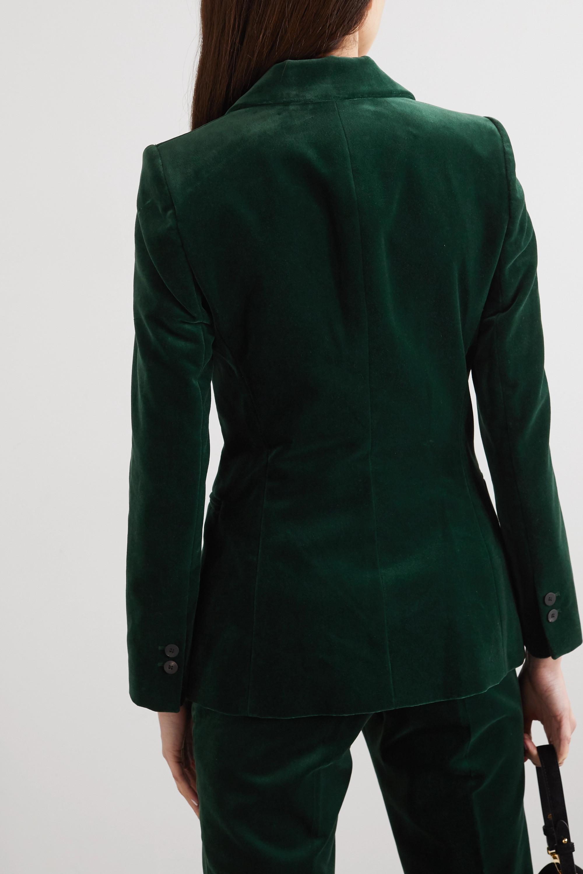 Cefinn Jamie cotton-velvet blazer
