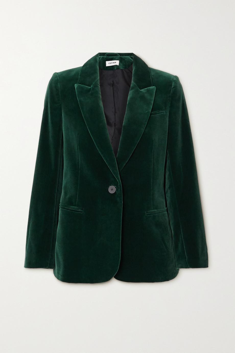 Cefinn Jamie 纯棉天鹅绒西装外套
