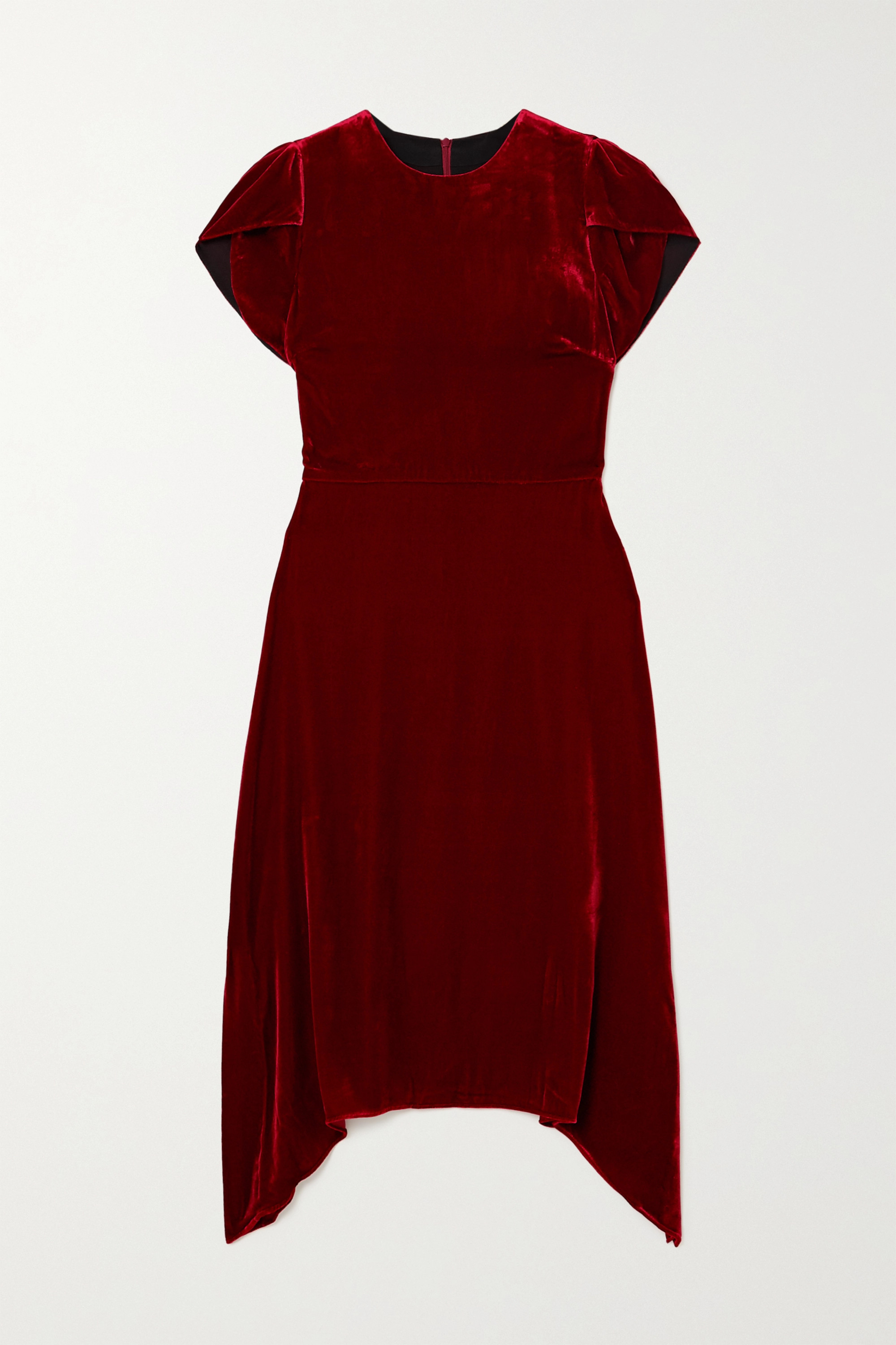 Cefinn Emily asymmetric velvet dress