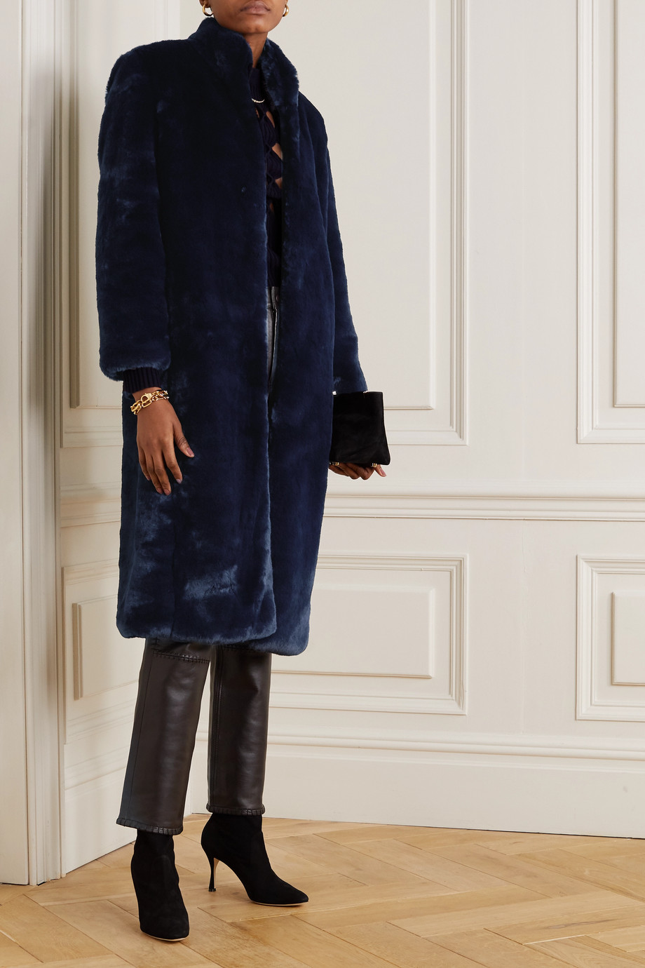 Cefinn Carly faux fur coat