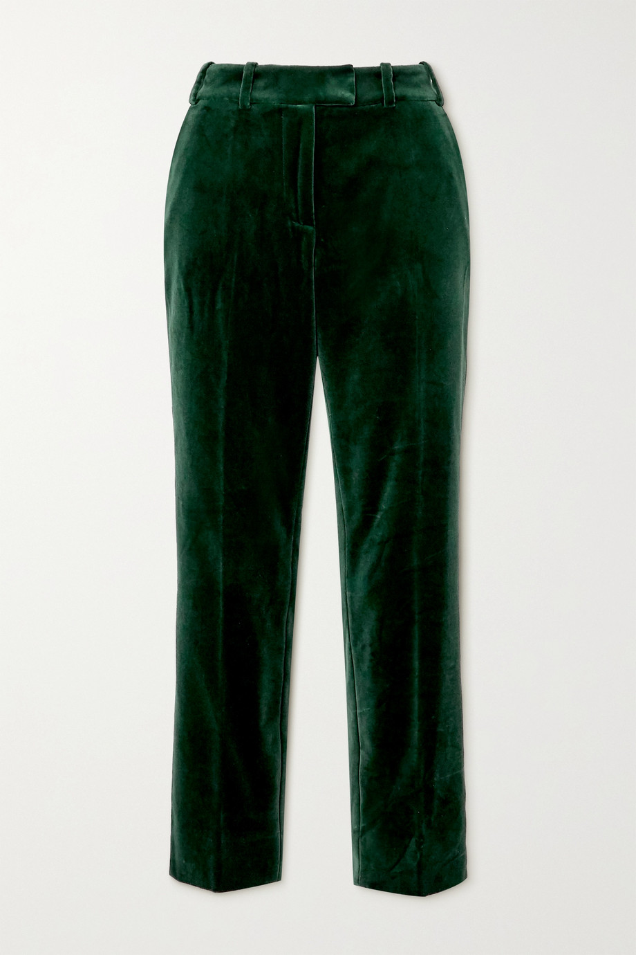 Cefinn Tatum cropped cotton-velvet slim-leg pants