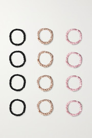 Slip Set of 12 small silk hair ties