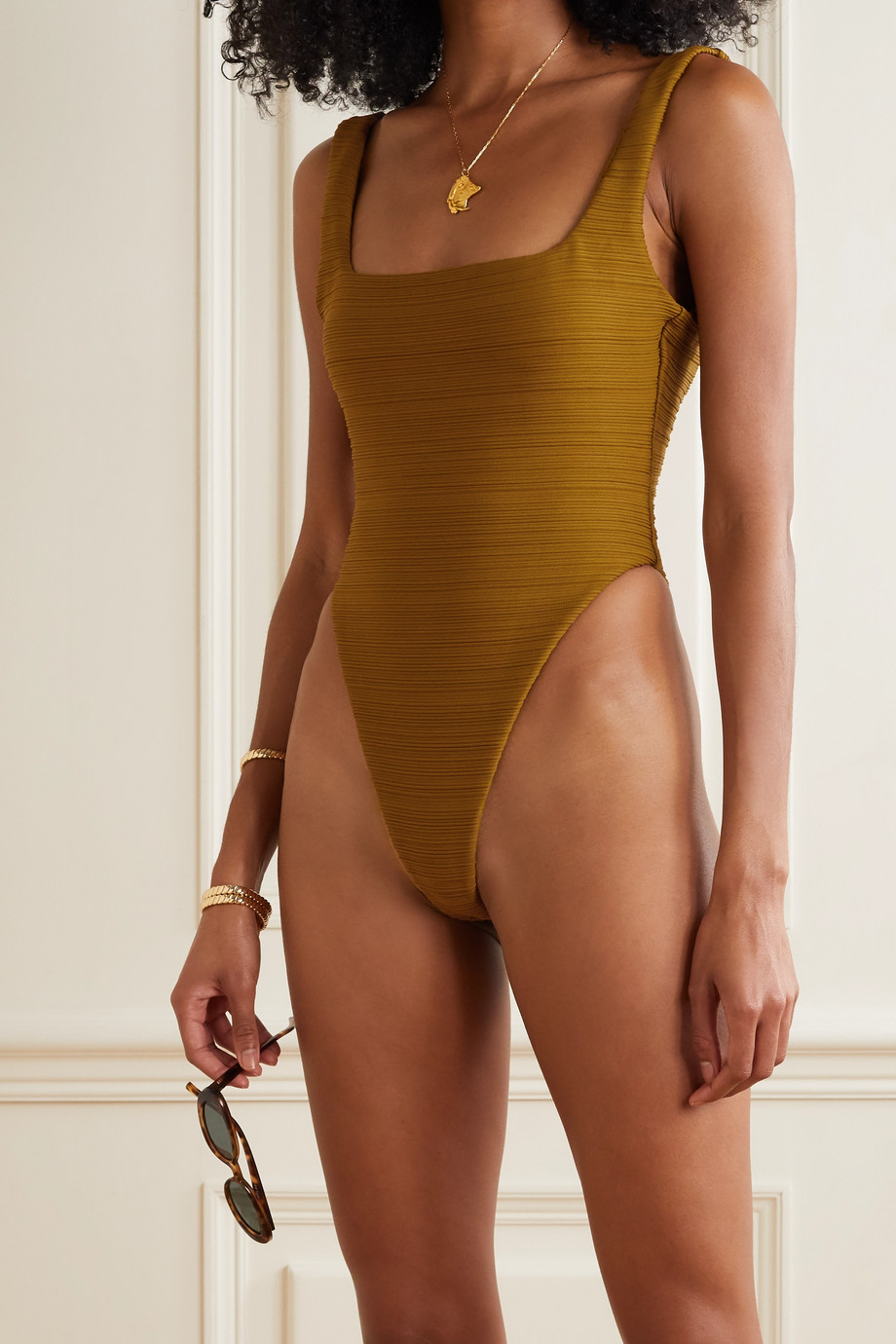 Mara Hoffman Idalia ribbed swimsuit