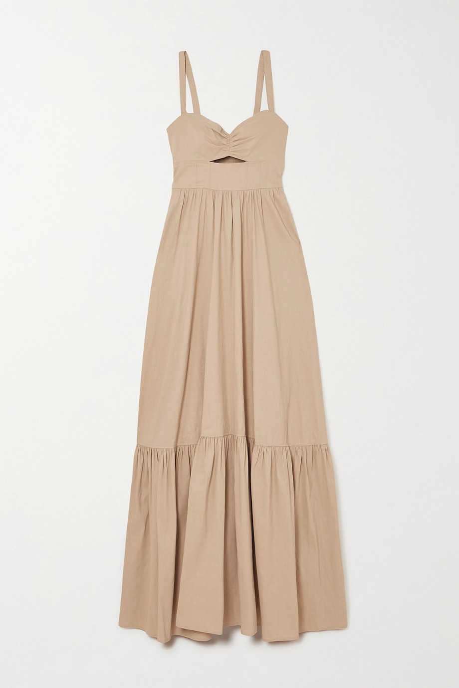 A.L.C. A.L.C. x Petra Flannery Everly cutout smocked linen-blend maxi dress