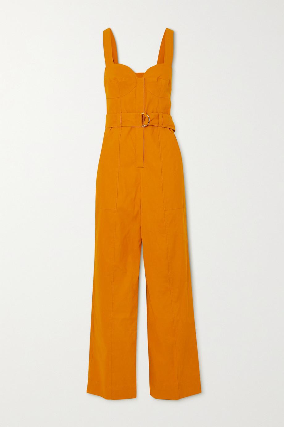 A.L.C. A.L.C. x Petra Flannery Cyprus Jumpsuit aus einer Leinenmischung mit Gürtel