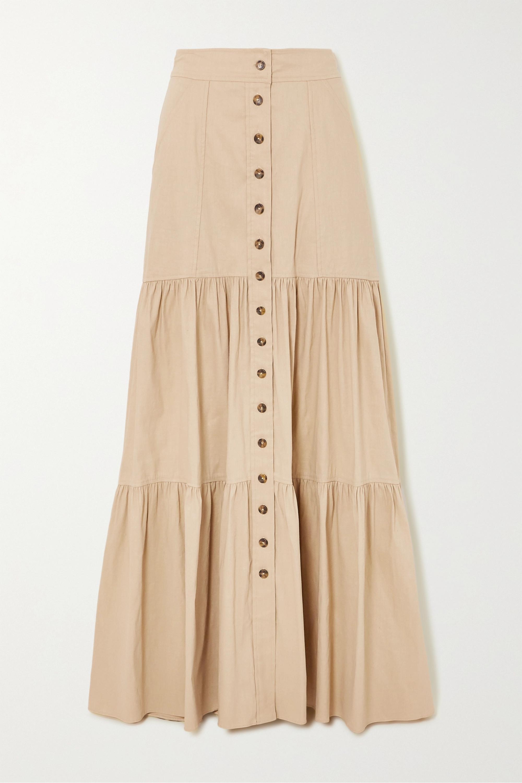 A.L.C. A.L.C. x Petra Flannery Inez tiered linen-blend maxi skirt