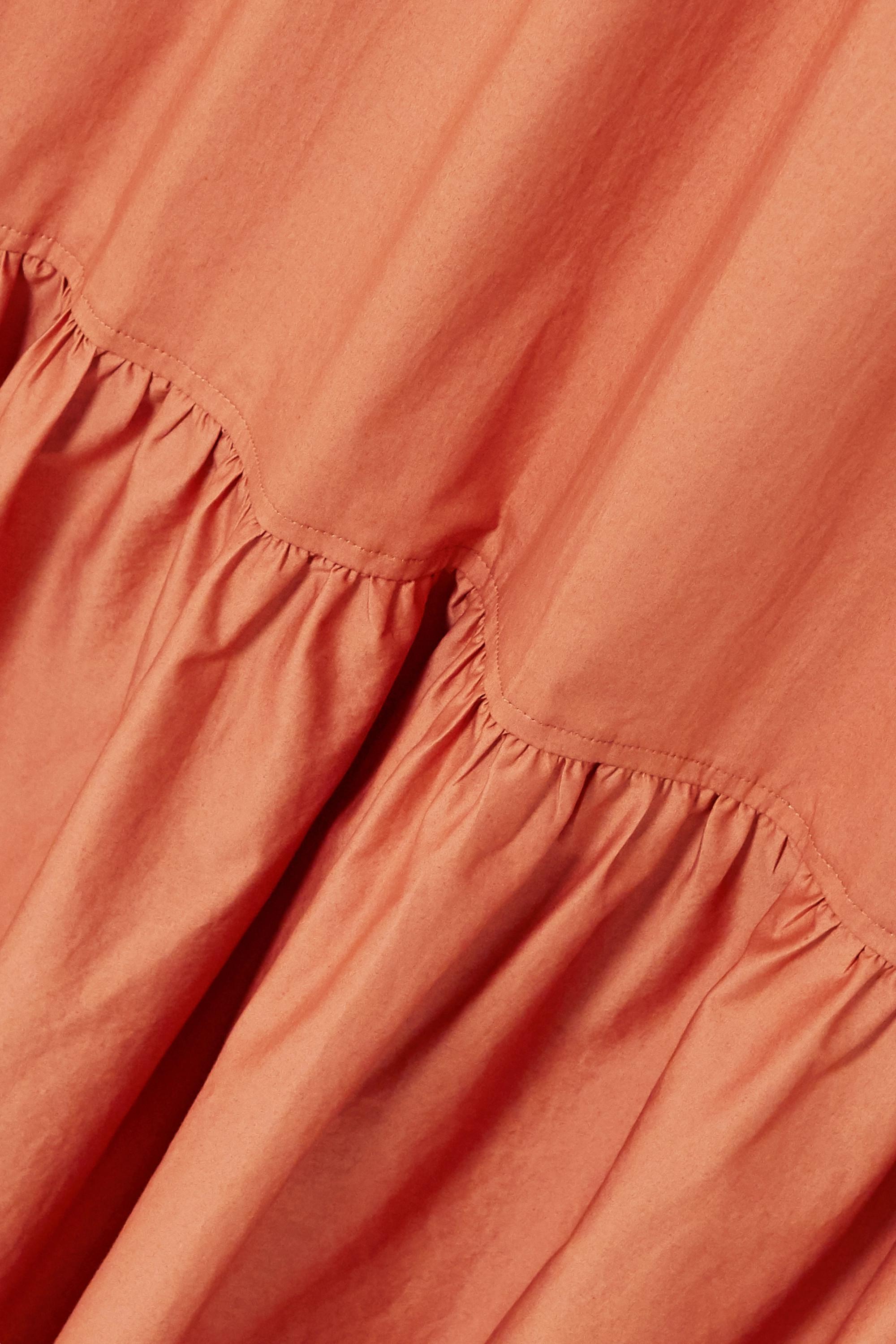 A.L.C. A.L.C. x Petra Flannery Mikell cotton-blend poplin maxi skirt