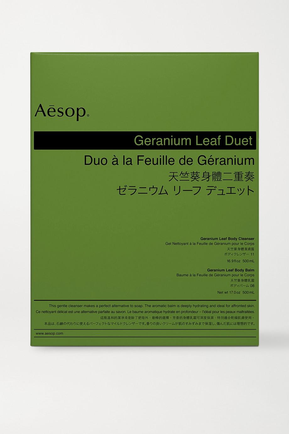 Aesop Geranium Leaf Duet, 2 x 500ml