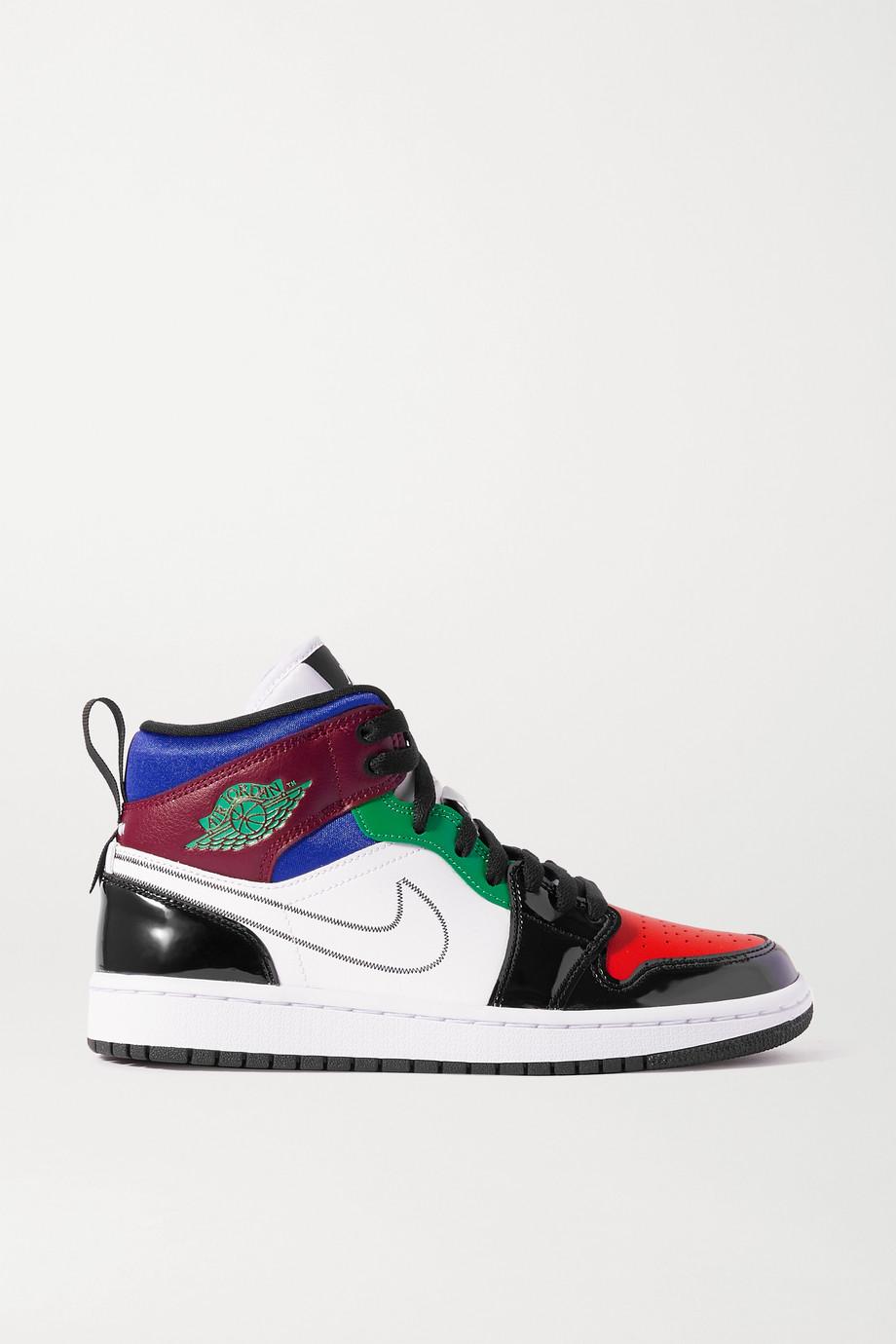 Nike Air Jordan 1 Mid Sneakers aus Leder und Mesh