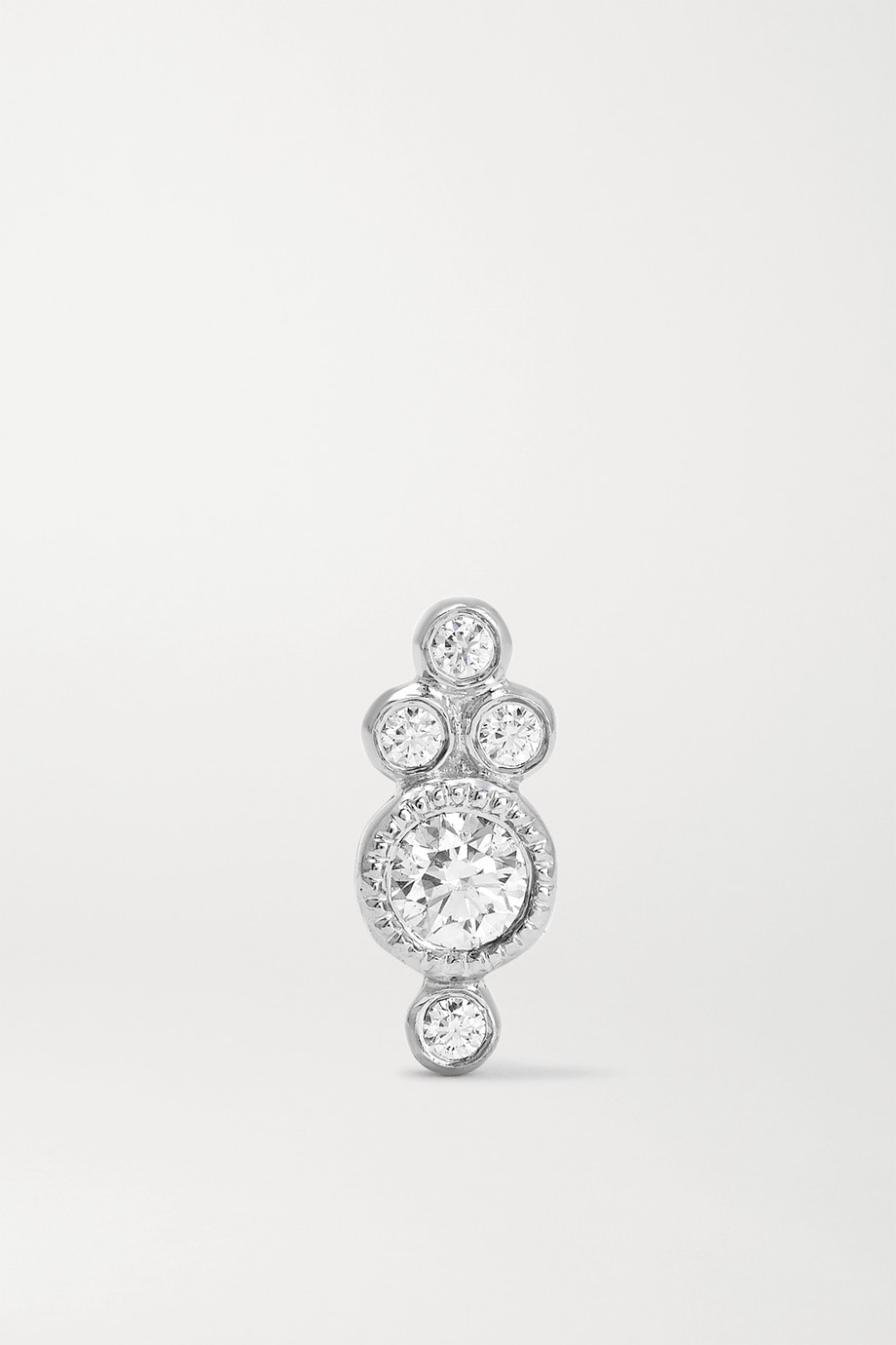 MARIA TASH Trinity 18K 白金钻石单只耳钉