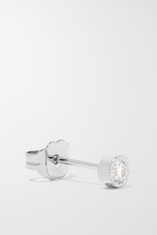 MARIA TASH Scalloped 2,5 mm Ohrring aus 18 Karat Weißgold mit Diamant