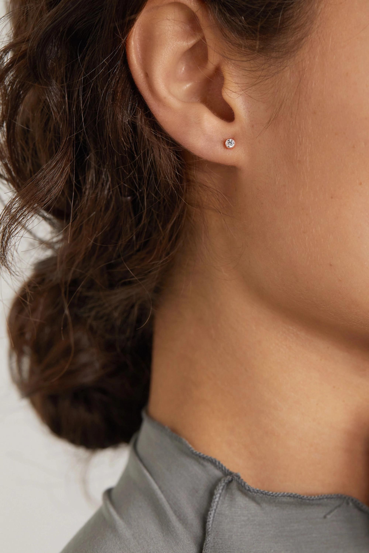 MARIA TASH Scalloped 2,5 mm Ohrring aus 18 Karat Roségold mit Diamant