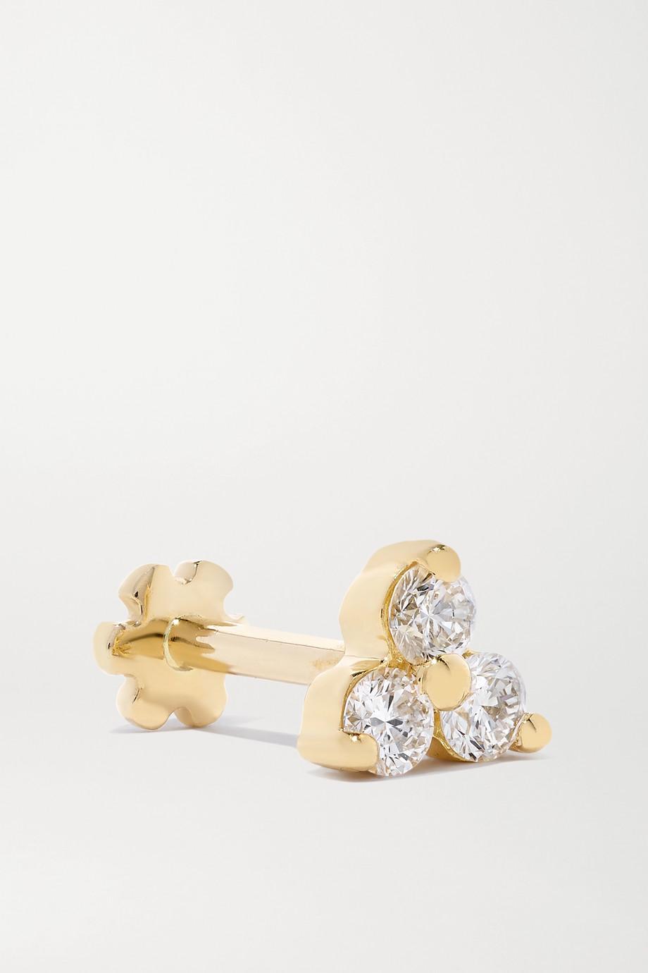 MARIA TASH Trinity 18K 黄金钻石单只耳钉