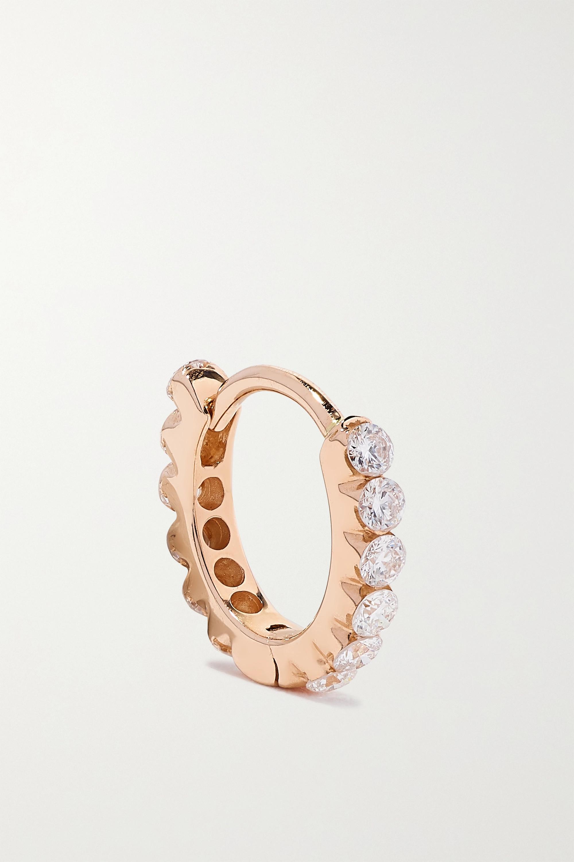 MARIA TASH - Eternity 6.5mm 18-karat rose gold diamond hoop earring