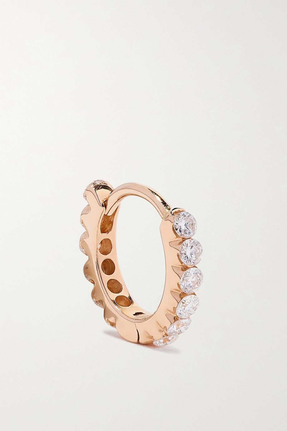 MARIA TASH Eternity 6,5 mm Creole aus 18 Roségold mit Diamanten