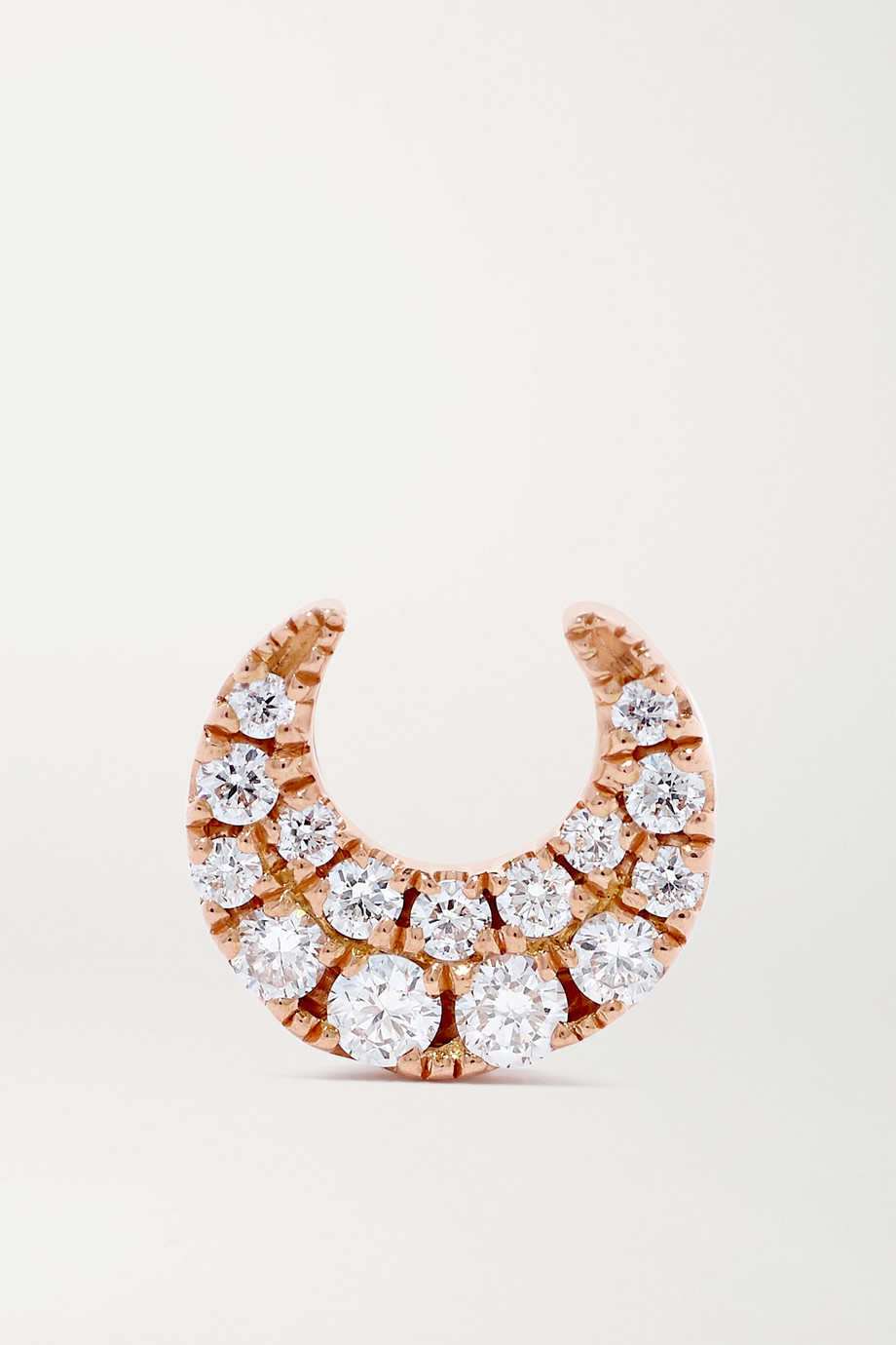 MARIA TASH Moon 18-karat rose gold diamond earring