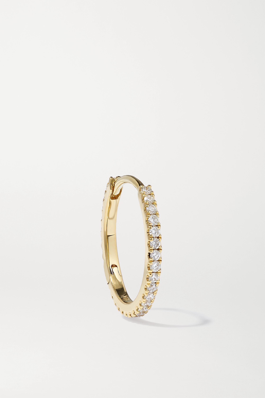 MARIA TASH Eternity 11 mm Creole aus 18 Karat Gold mit Diamanten