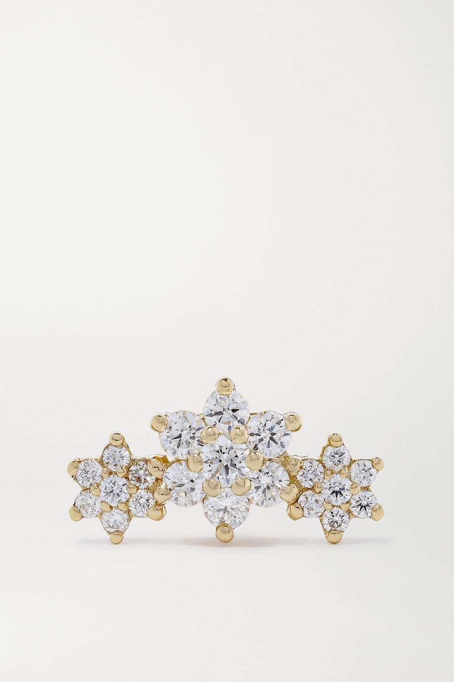 MARIA TASH Boucle d'oreille en or 18 carats et diamants Flower Garland