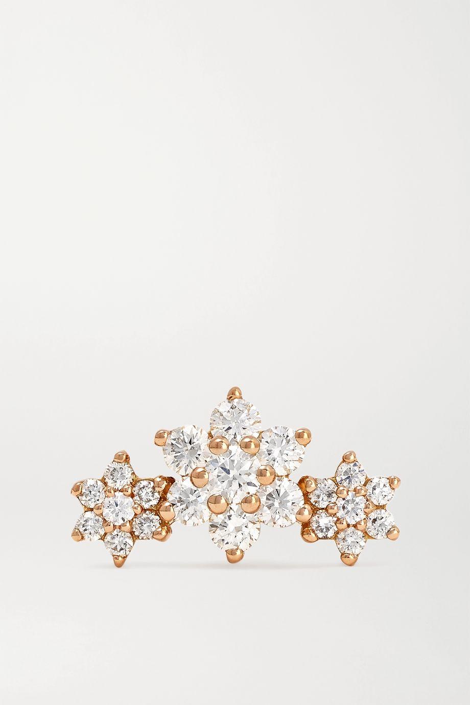 MARIA TASH Flower Garland Ohrring aus 18 Karat Roségold mit Diamanten