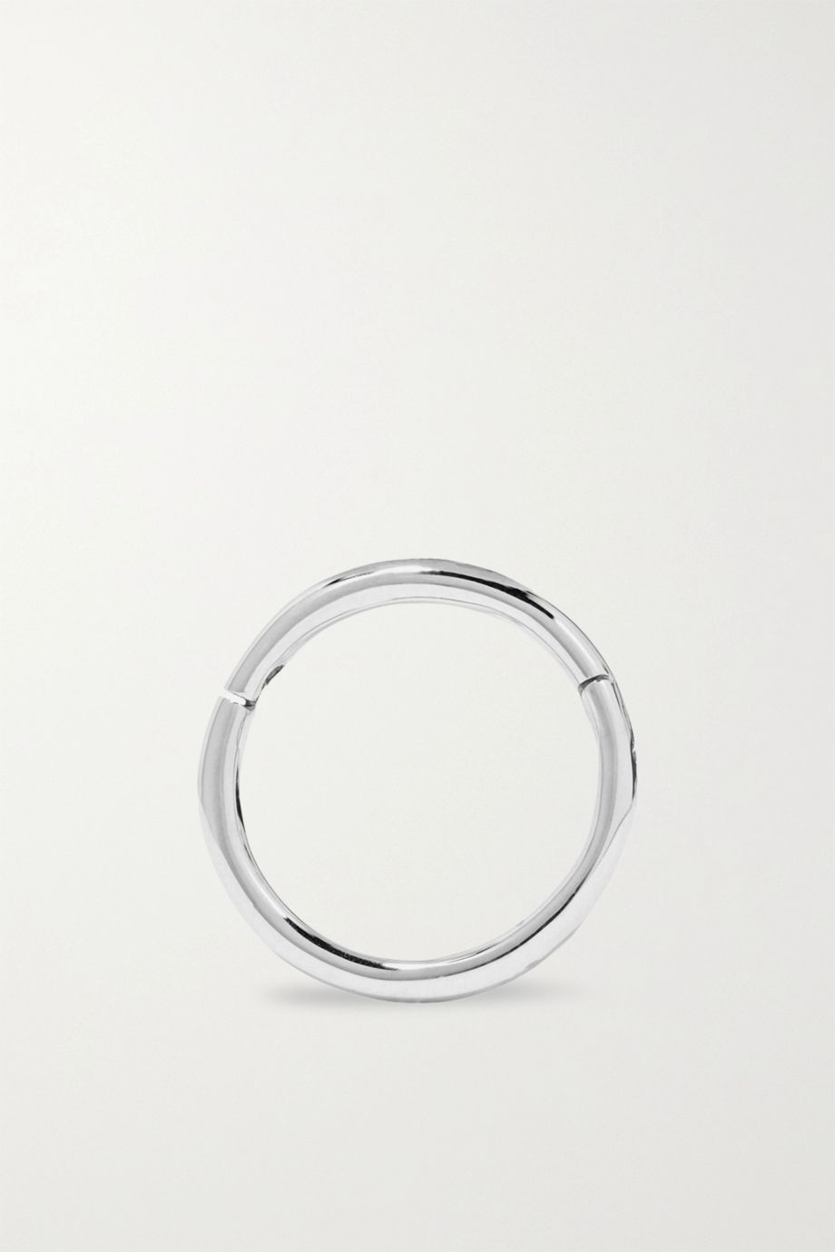 MARIA TASH 8mm 14-karat white gold hoop earring