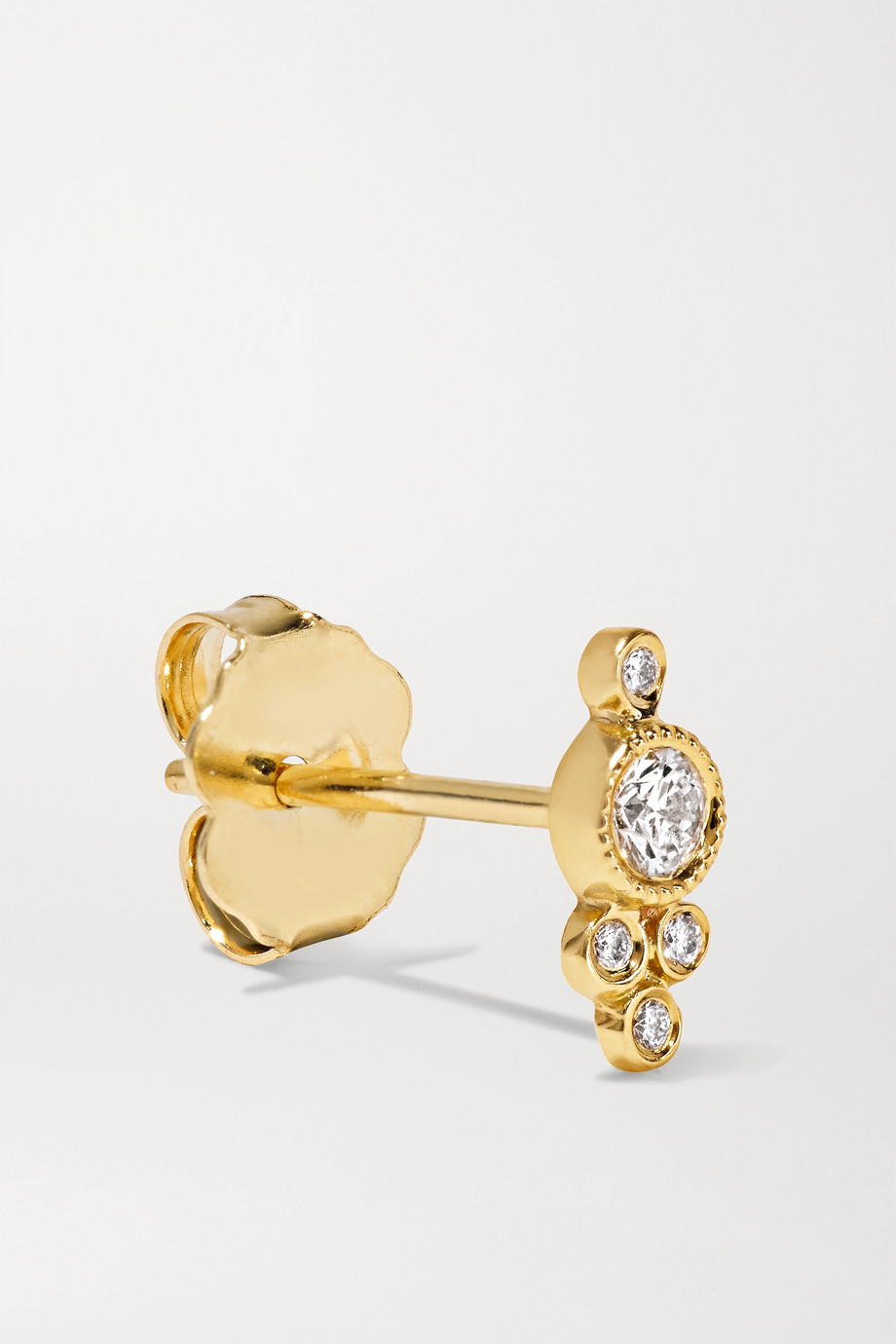 Maria Tash 4mm 18-karat gold diamond earring