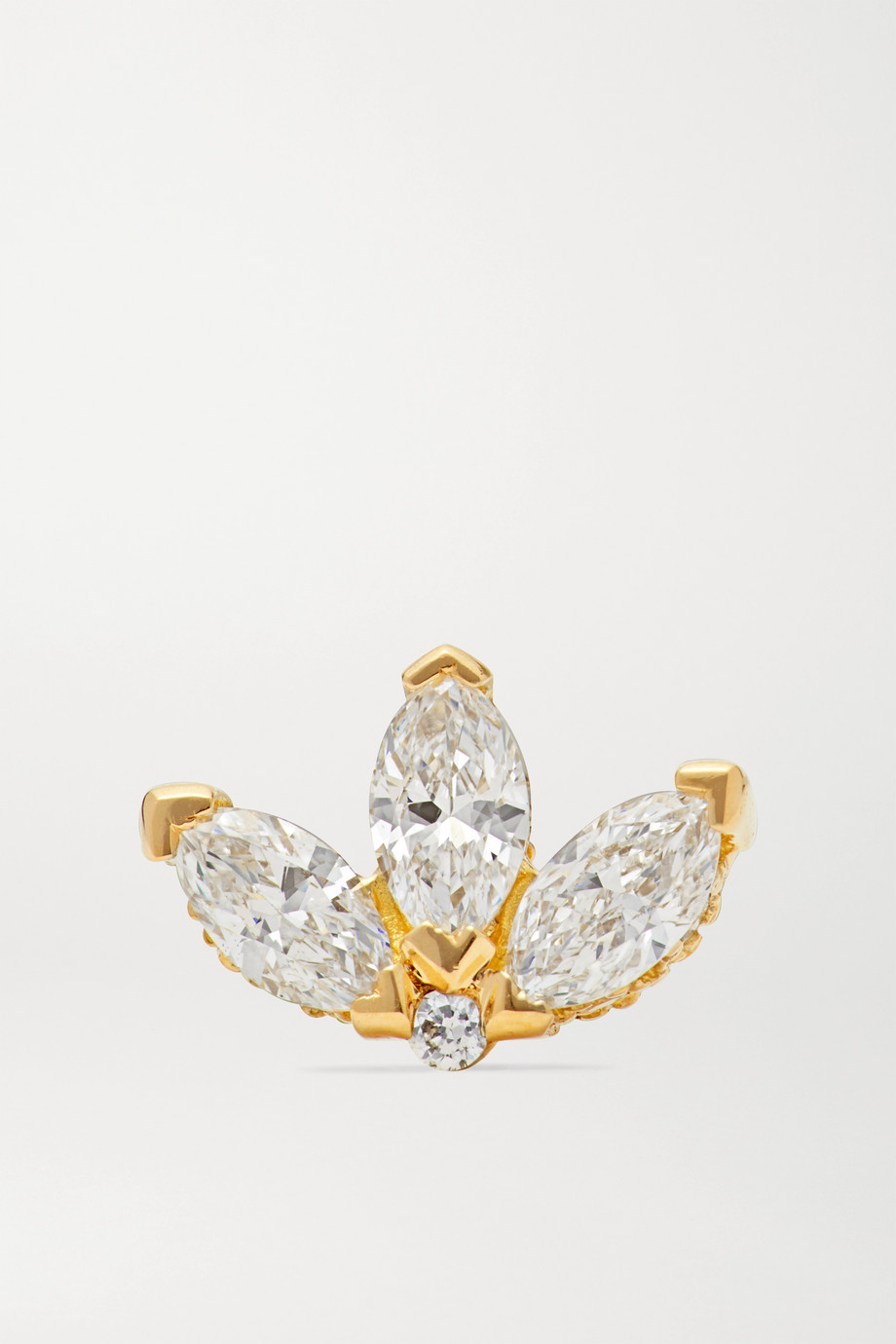 MARIA TASH Boucle d'oreille en or 18 carats et diamants Lotus