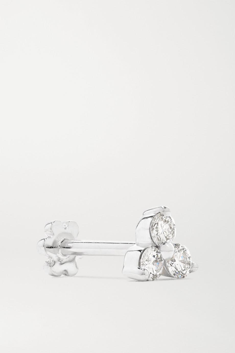 MARIA TASH Trinity 18-karat white gold diamond earring