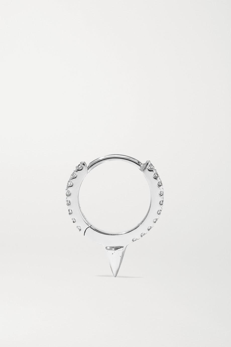 MARIA TASH Eternity 8mm 18-karat white gold diamond hoop earring