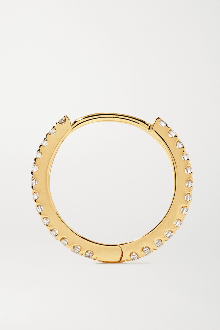 Maria Tash Eternity 9.5mm 18-karat gold diamond hoop earring