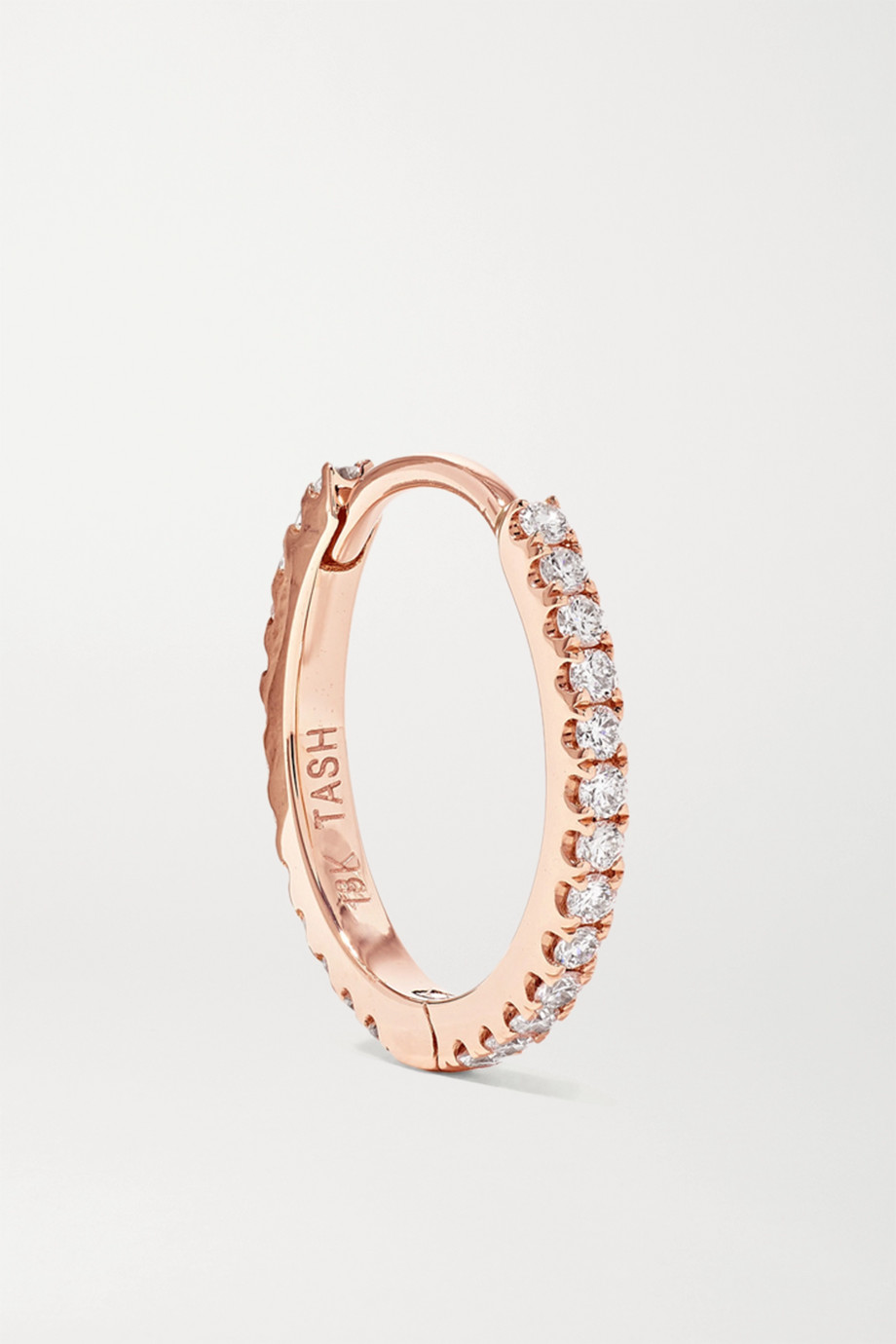 Maria Tash Eternity 9.5mm 18-karat rose gold diamond hoop earring