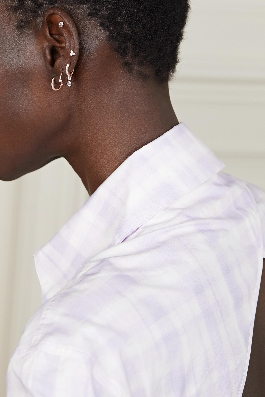 Maria Tash Eternity 9.5mm 18-karat rose gold diamond hoop earring