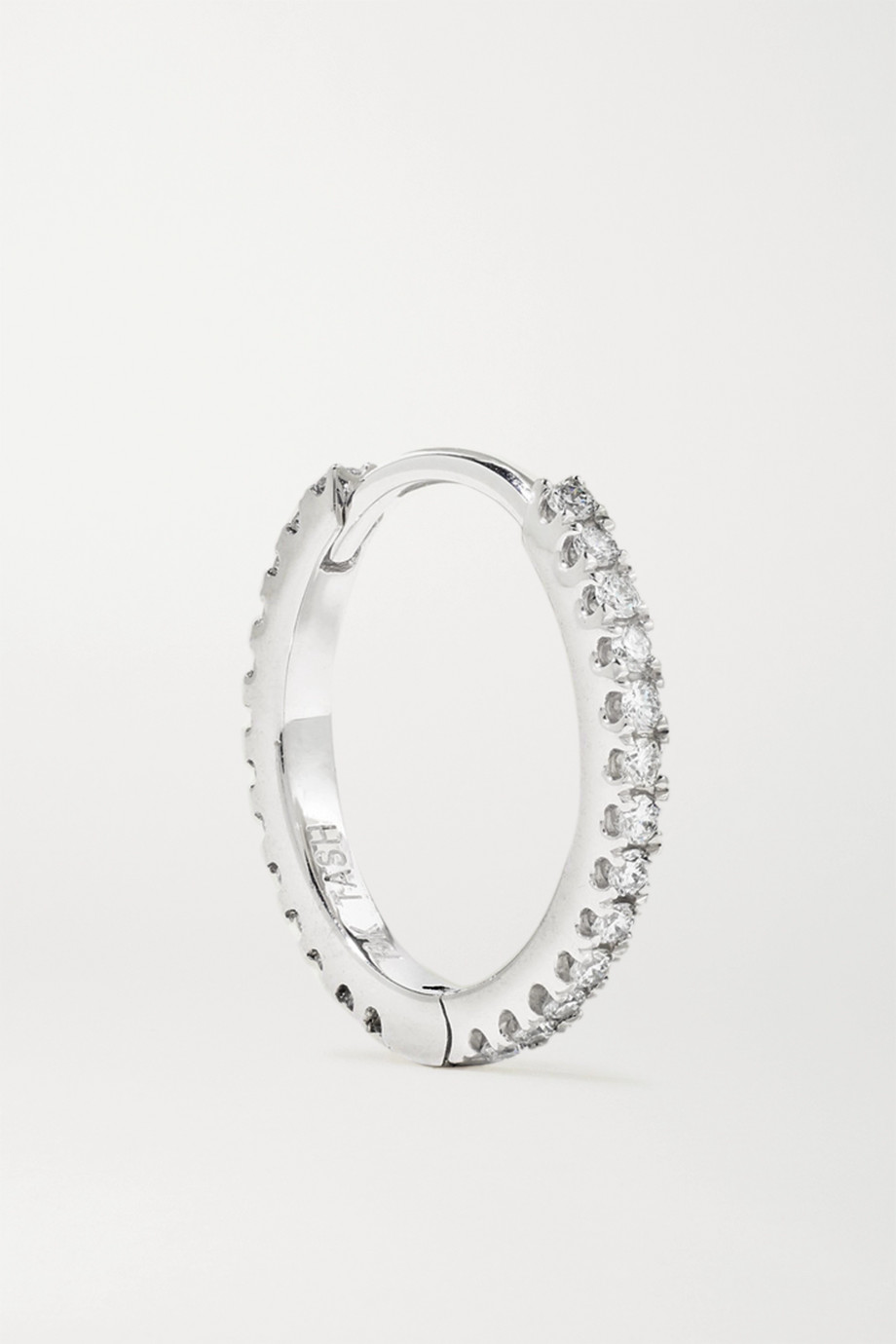 Maria Tash Eternity 9.5mm 18-karat white gold diamond hoop earring