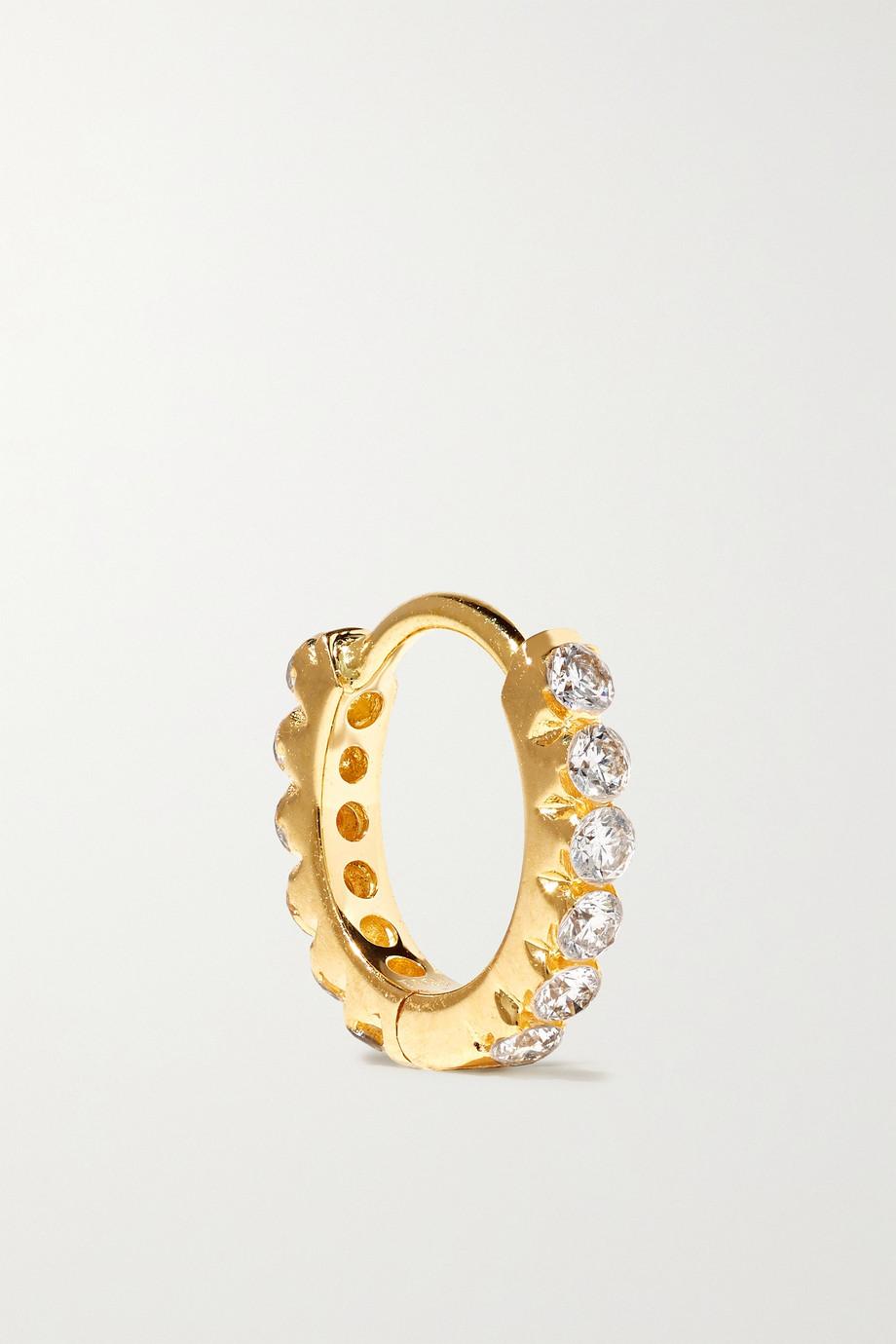 Maria Tash Eternity 6.5mm 18-karat gold diamond hoop earring