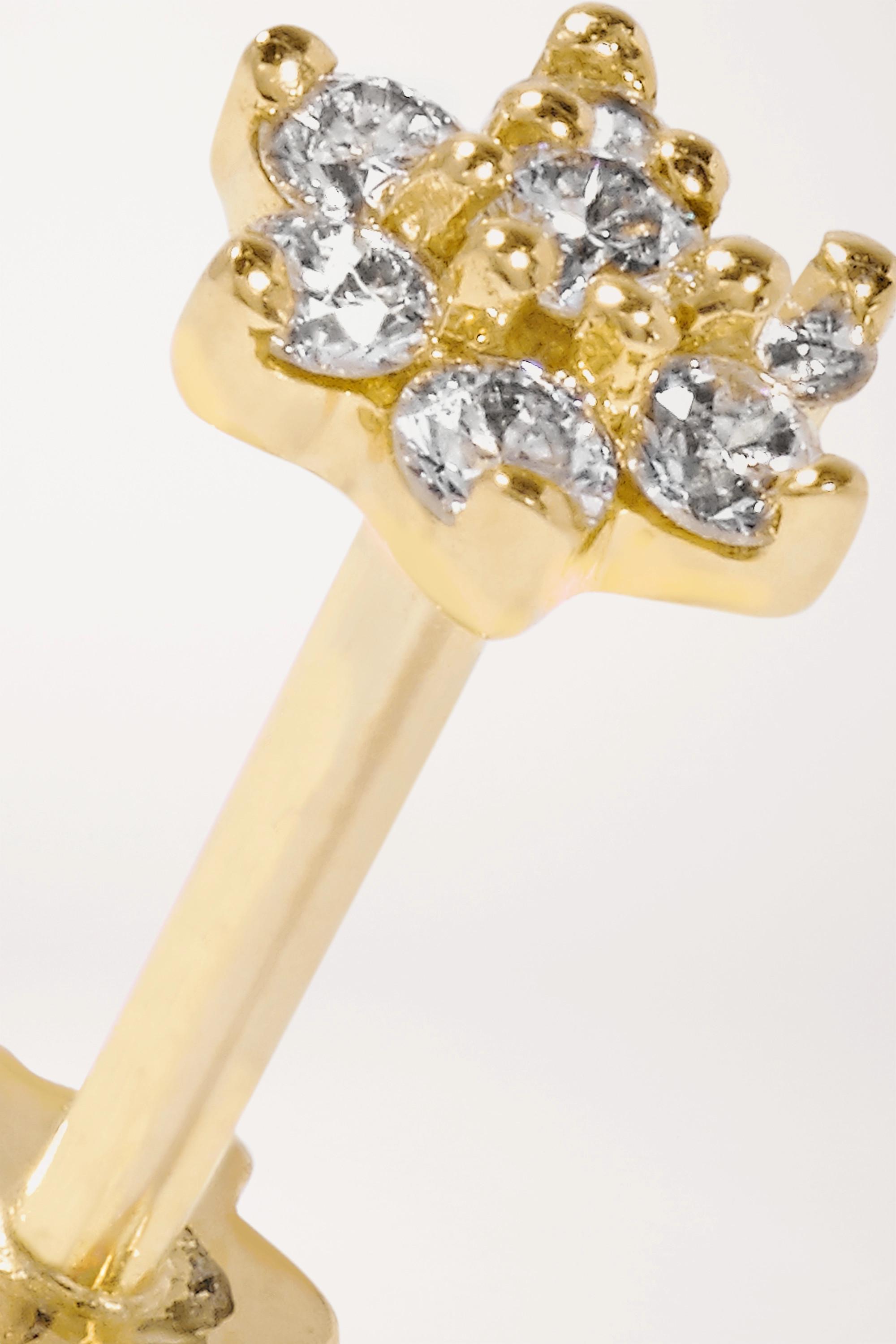 Maria Tash 4.5mm 18-karat gold diamond earring