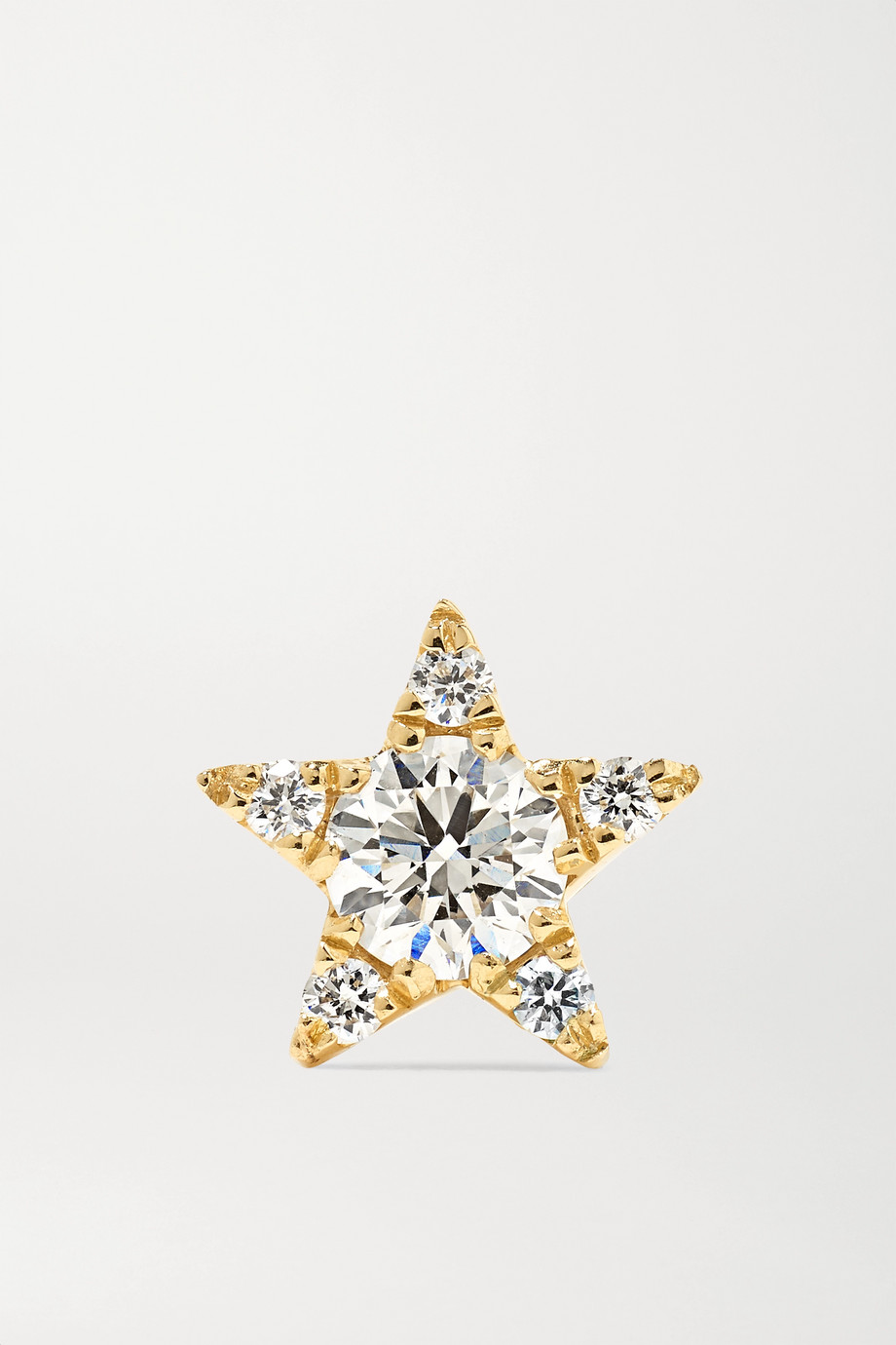 MARIA TASH 5.5mm 18-karat gold diamond earring
