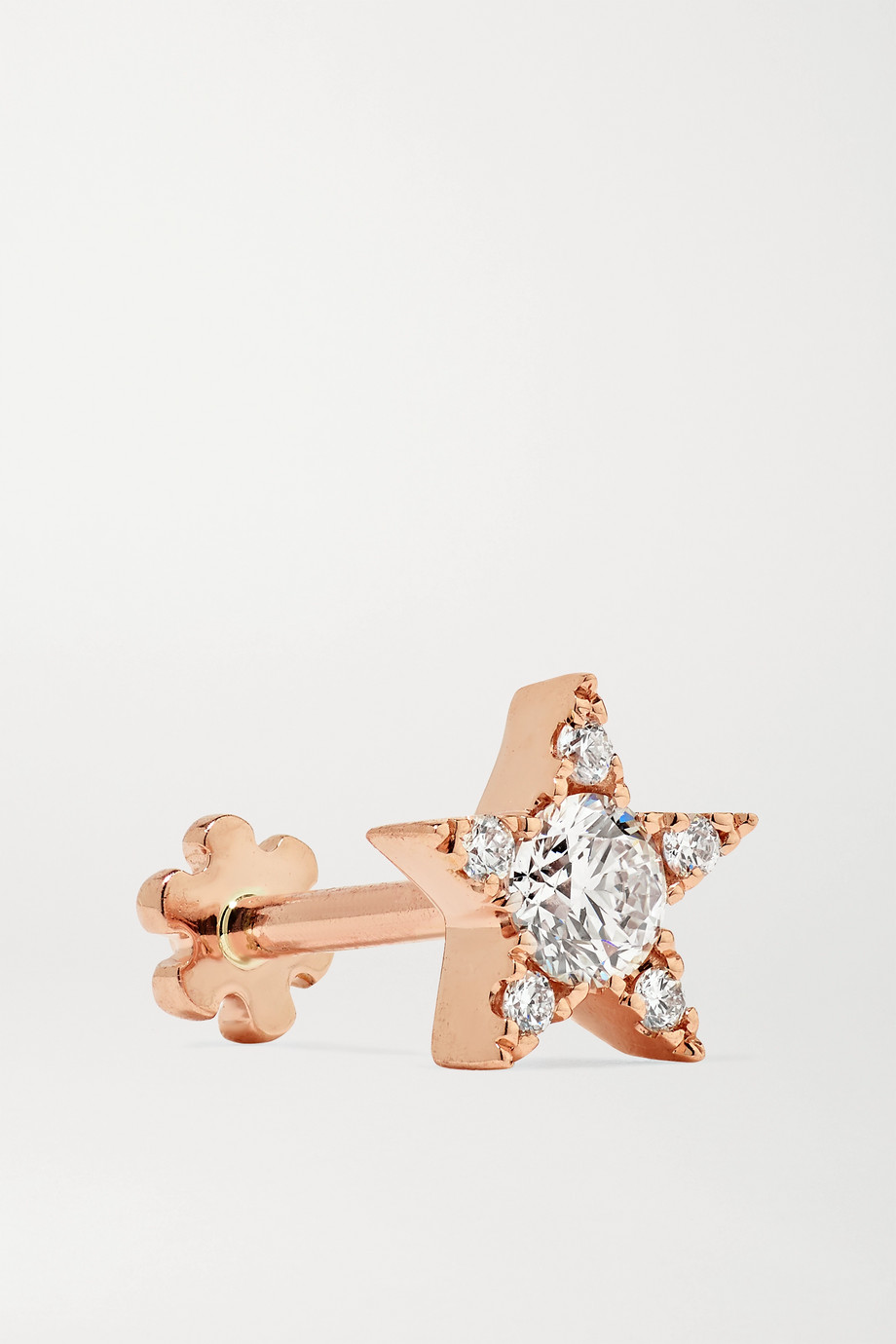 Maria Tash 5.5mm 18-karat rose gold diamond earring