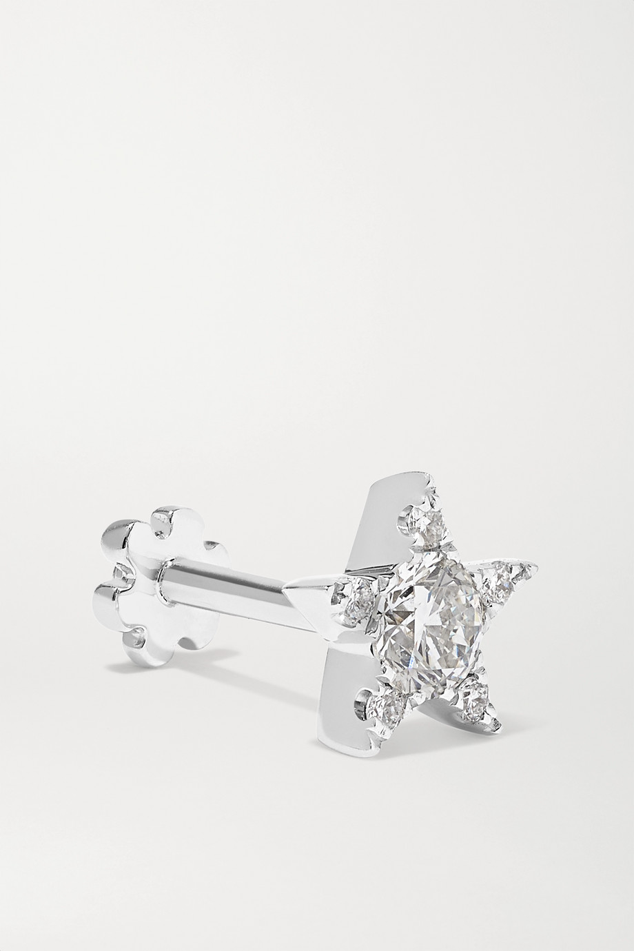 Maria Tash 5.5mm 18-karat white gold diamond earring