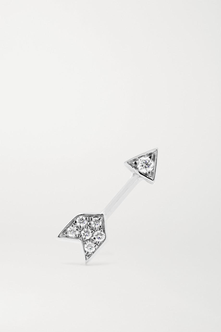 MARIA TASH Arrow 18-karat white gold diamond earring