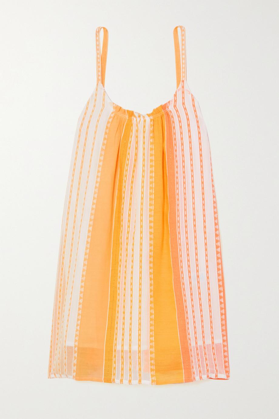 LemLem + NET SUSTAIN Eshal striped cotton-gauze mini dress