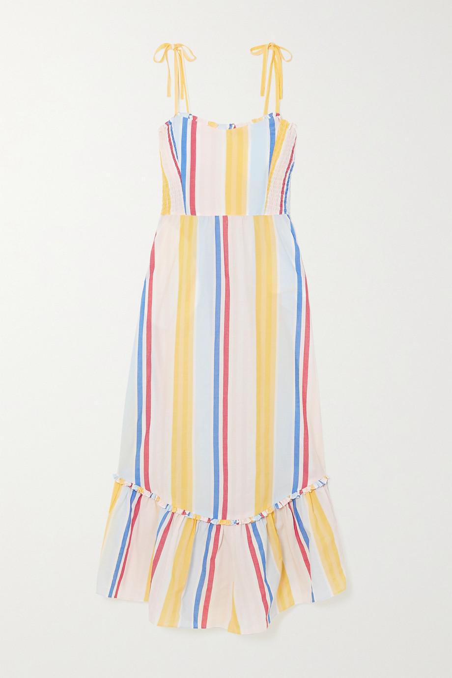 LemLem + NET SUSTAIN Jima smocked striped woven dress