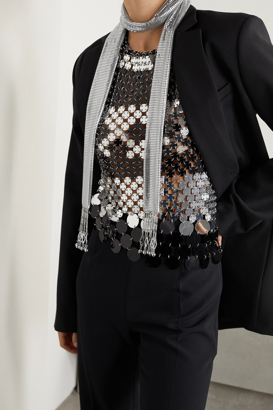 Paco Rabanne Pixel chainmail scarf