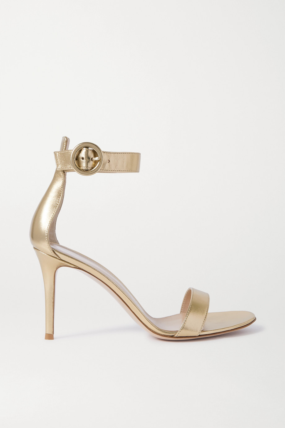 Gianvito Rossi Portofino 85 metallic leather sandals