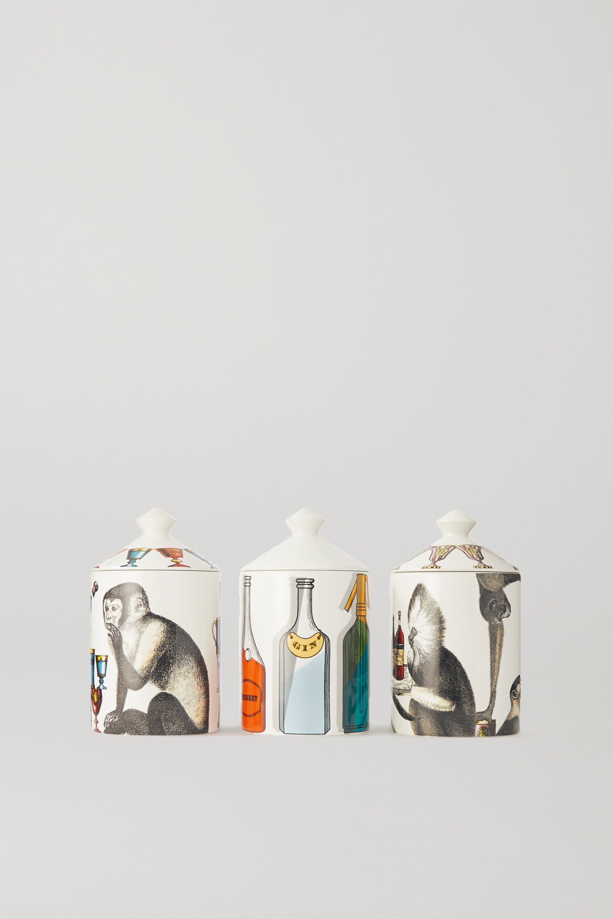 Fornasetti Sweet Drinks set of three scented candles, 3 x 300g