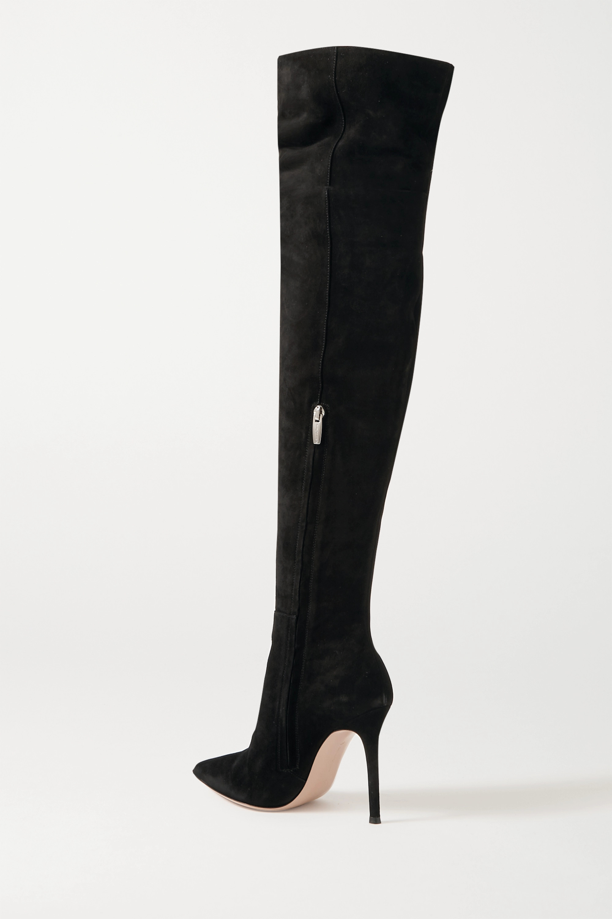 Black 105 Suede Over-the-knee Boots | Gianvito Rossi
