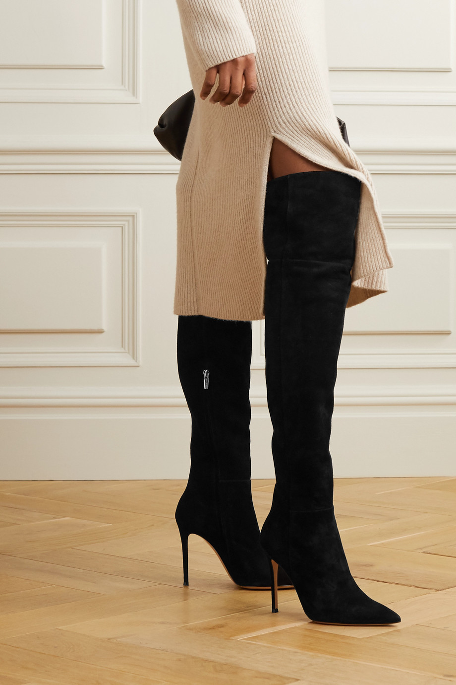 Gianvito Rossi 105 suede over-the-knee boots