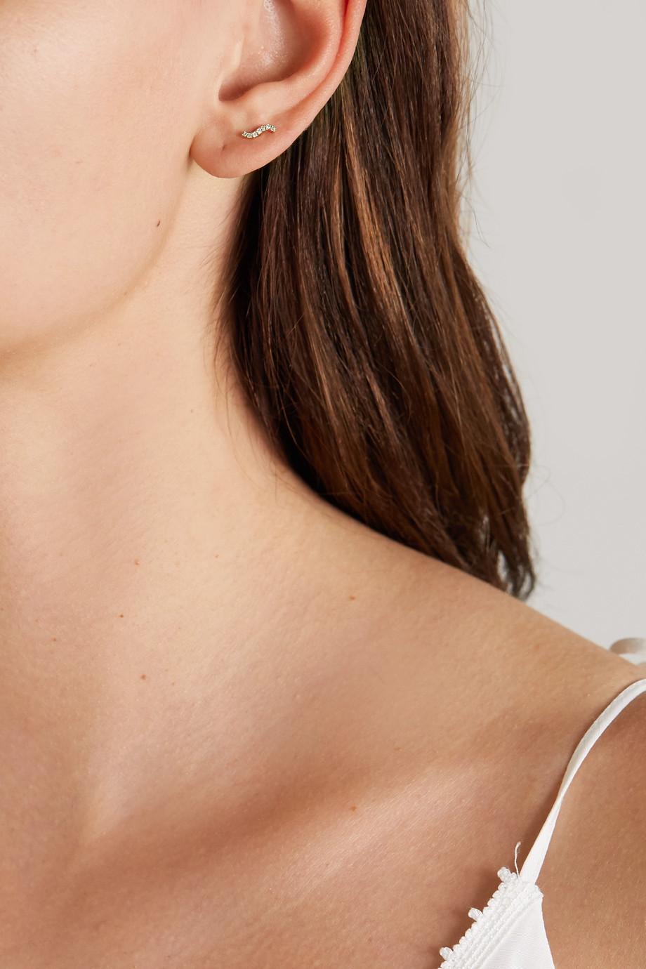 Maria Black Wave Ohrring aus Gold mit Diamanten