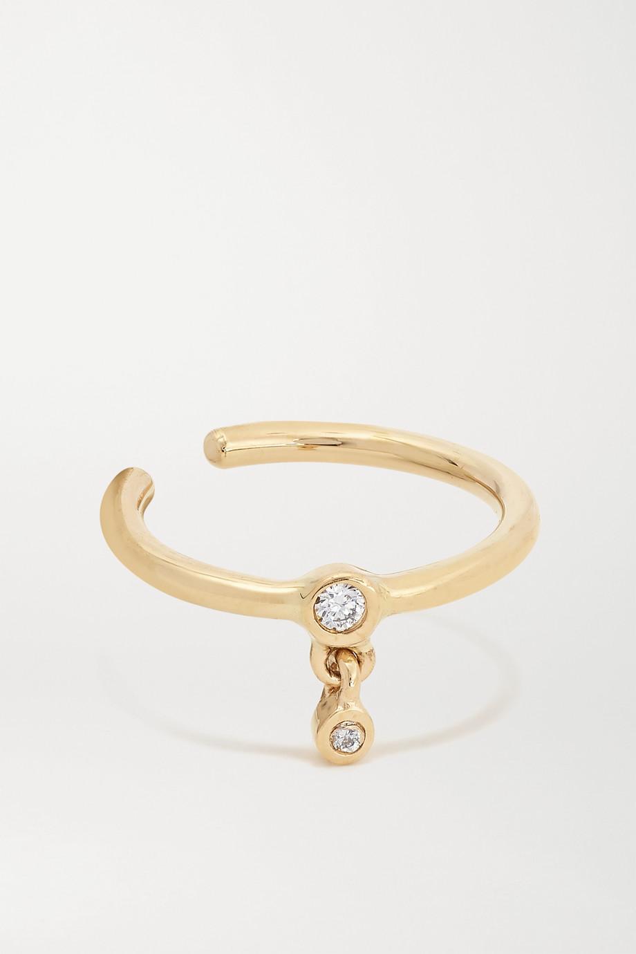 Maria Black Lady gold diamond ear cuff