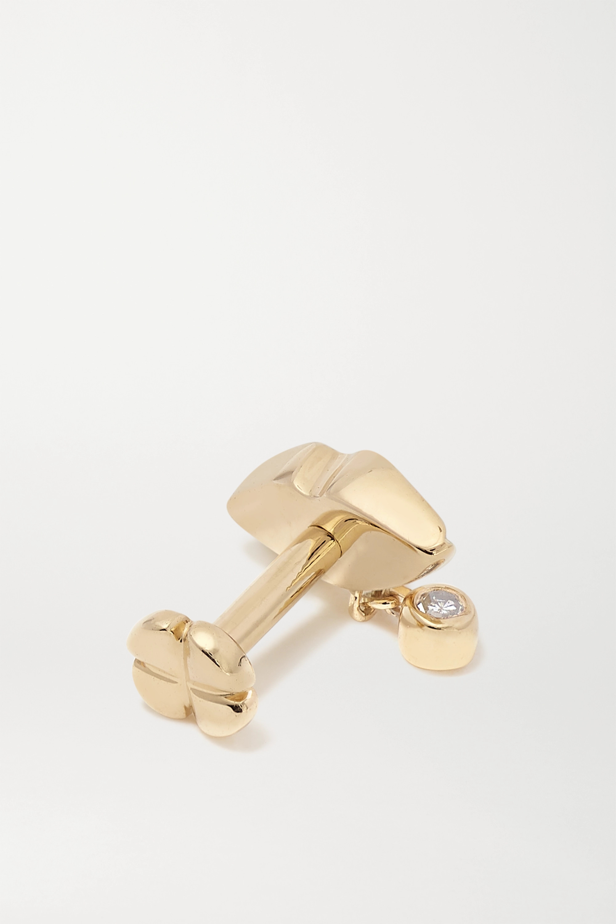 Maria Black Lips Ohrring aus Gold mit Diamant