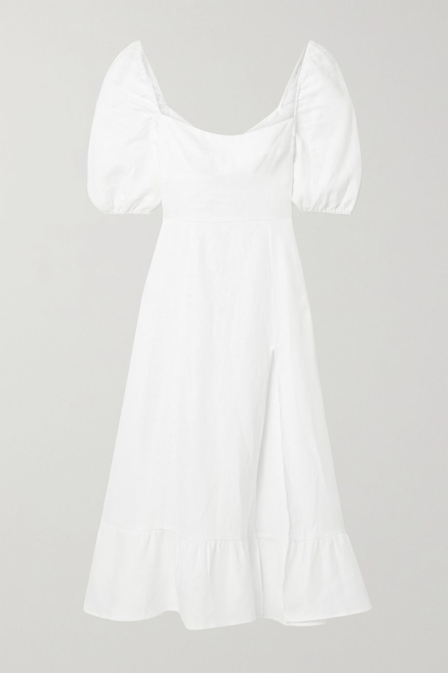 Reformation Belgium linen midi dress